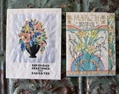 Vintage Birthday Cards, Daughter and March Horoscope