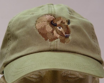 BUFFALO HAT - One Embroidered Bison Wildlife Cap - Price Embroidery Apparel - 24 Color Caps Available