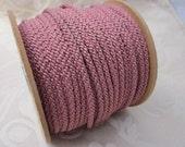 3 Metres 4mm Dark Rose Pink Lacing Cord