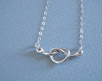 Simple Silver Knot Necklace