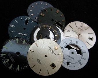 Steampunk Watch Faces Vintage Antique  Dials  Parts Altered Art Industrial DG 33