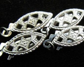 4 Vintage Silver Filigree Clasps SC 101