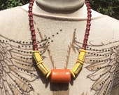 African Krobo Trade Bead Necklace New Collection no 8 by Kate Drew-Wilkinson