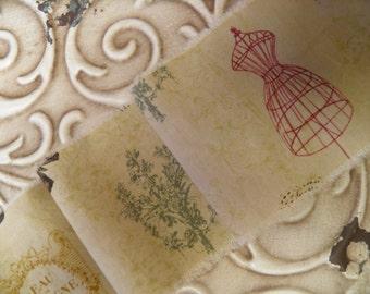French Ribbon - Butterfly - Paris Address - Eau de Cologne -Mannequin -  French Trim - Homestead Treasures
