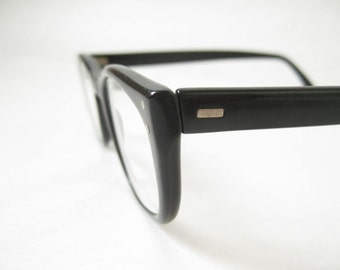 Vintage 50's Black Horn Rim Frames. Womens