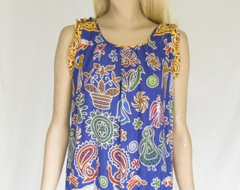 SALE...Vintage 90s  Elephant Print Dress