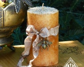 Honey Bee Candles 2x3 . With Orange Blossom Honey, Lavender and Wildflower