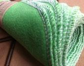 Spring Green Ecofriendly BAMBOO Alternative to Facial Tissues plus Wash Bag  -  6 half sized cloths BONUS Laundry Bag