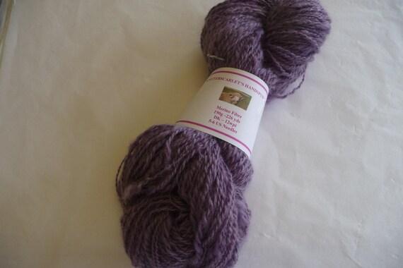 Purple Merino Handspun Yarn 190g/226yds