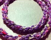 Royal Purple  Handwoven and Sterling Silver Necklace