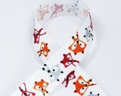 7/8 Fall Fox Grosgrain Ribbon 3 yards