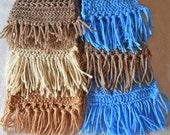 Hand Crochet Acrylic Scarf with Fringe