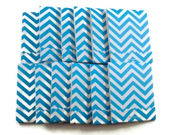 Matchbook Notepads  Matchbook Favors in  Blue Chevron