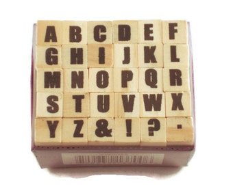 Mini Alphabet Rubber Stamp Set  (ARS-3)