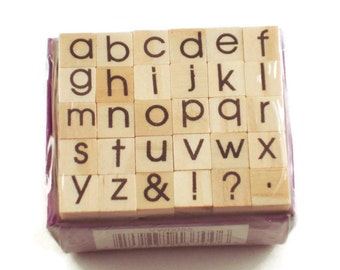 Mini Alphabet Rubber Stamp Set  (ARS-5)