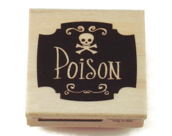 Rubber Stamp -  Poison