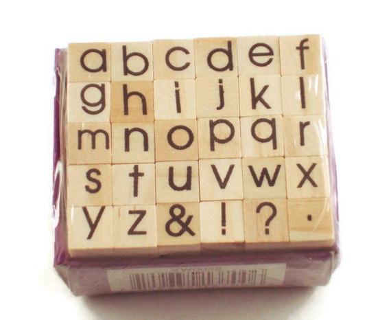 Mini Alphabet Rubber Stamp Set Ars 5