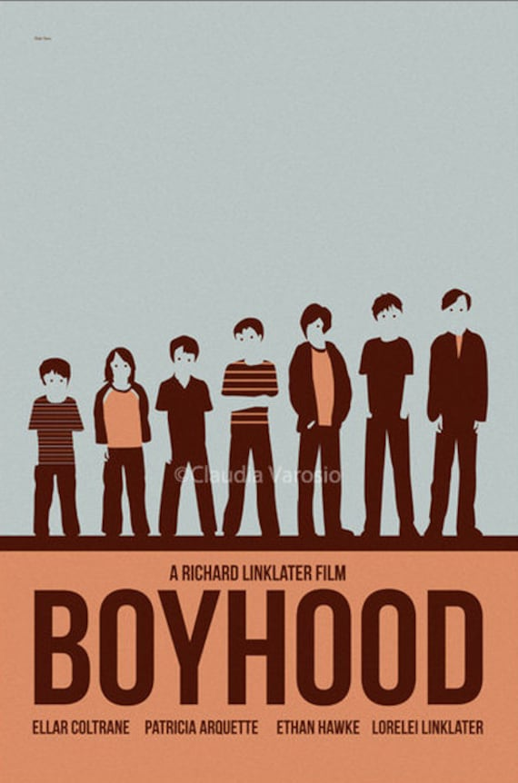 Movie poster boyhood 12x18 inches print by claudiavarosio for Minimal art literatur