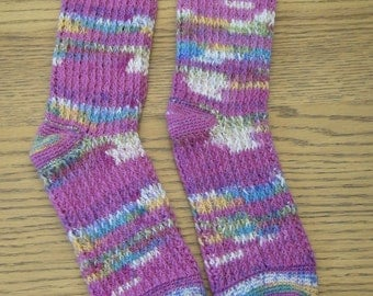 Pattern for Crochet Ribbed Socks Made the Toe-Way Up Small - Extra Large (instant download)