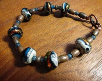 Earthy Murano Glass Bracelet
