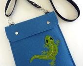iPad Air / 2 / 3 / 4 felt case with gecko