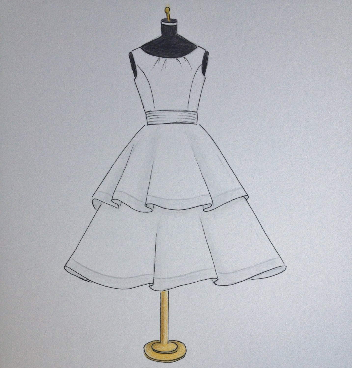 Dresses drawing pictures