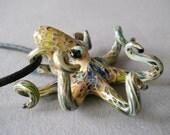 Blown Glass Pendant Octopus Necklace