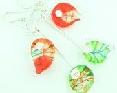 Racheli Lila - colorful leaf earrings - for a very talented woman - Sarri Glassman