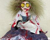 Mary-Lou - A Horror Fantasy Creepy Zombie Art Doll
