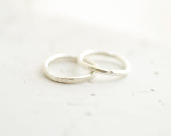 Stacking Pinky Rings, Silver Thumb Rings, Rustic Sterling Silver