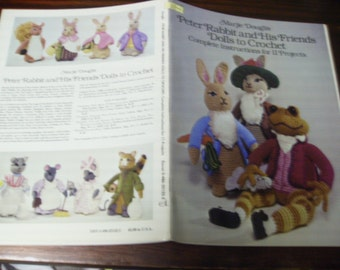 Toy Doll Crocheting Peter Rabbit and His Friends Dolls to Crochet Dover Needlework Series Pattern Booklet Marjie Douglis