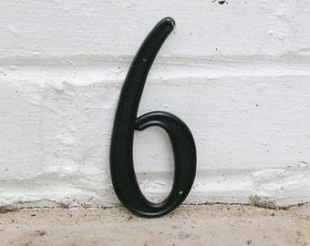 Vintage Address Number Sign Vintage House Number 6 Six or 9 Nine Vintage Metal Sign Address Sign