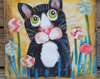 Cat Collage Painting