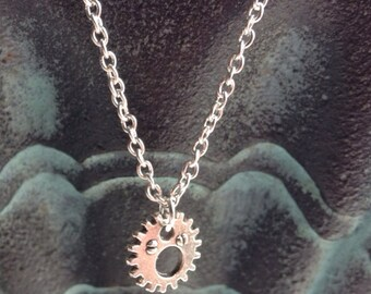 Steampunk Gear Necklace, Gear Necklace, Steampunk Jewelry