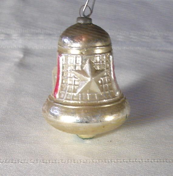 Vintage mercury glass bell ornament beautiful antique blown