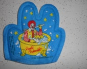 1988 McDonalds Childs Bath Mitt Never Used Has Ronald McDonald in Tub with rubber ducky