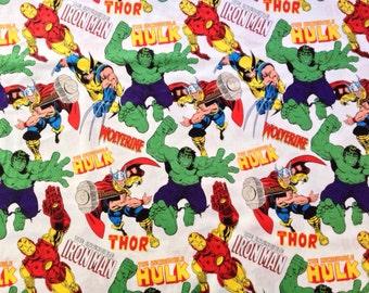 Marvel Comic Book Characters Fabric Yard