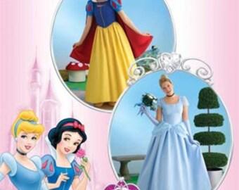 Disney Princess Dress Patterns Simplicity 2813 Size RR Plus 14 16 18 20