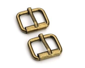 "100pcs - 5/8"" Roller Pin Belt Buckles - Antique Brass - Free Shipping (ROLLER BUCKLE RBK-106)"