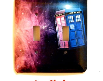 Dr. Who Double Switchplate