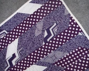 Playful Purple Shattered Chevron Quilt