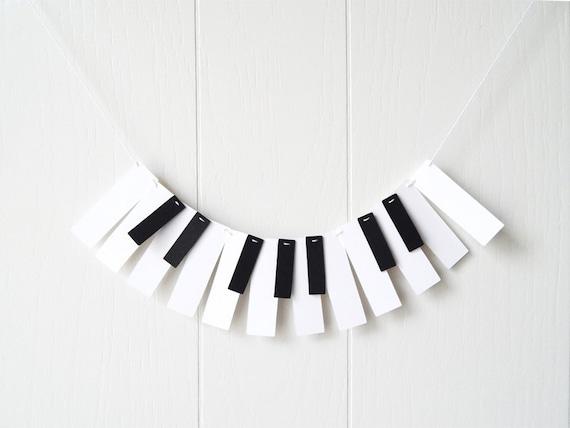 Piano Music Wall Decor : Piano ornament mini wall decor music garland