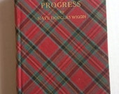 antique tartan plaid book penelope's progress c. 1800s