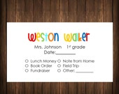PERSONALIZED SCHOOL ENVELOPES - your child's name - 20 envelopes