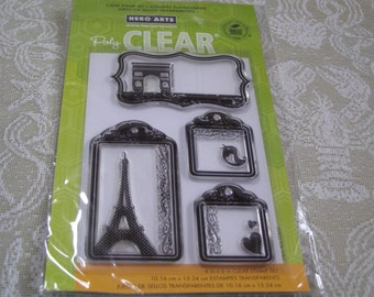 Travel Tags Hero Arts Clear Unmounted Stamps - 4 pieces