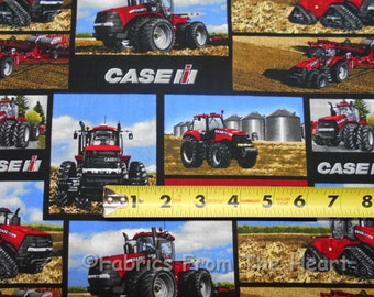 Case Tractor Farm International Harvester Construction BY YARDS Cotton Fabric