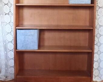 Vintage Mid Century Modern Wood BookCase