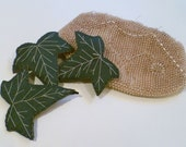 Leather Embroidered Ivy Hair Clip Accessory Adornment