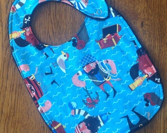 On Sale - Pirate Minky Baby/Toddler Bib