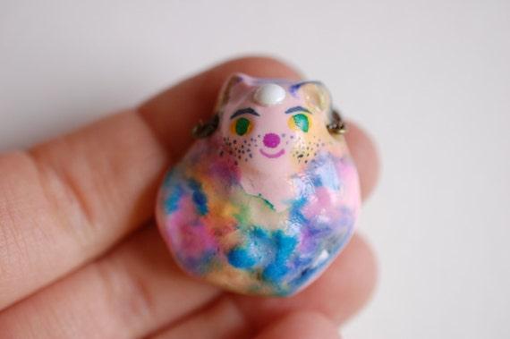 Watercolour Cat Amulet